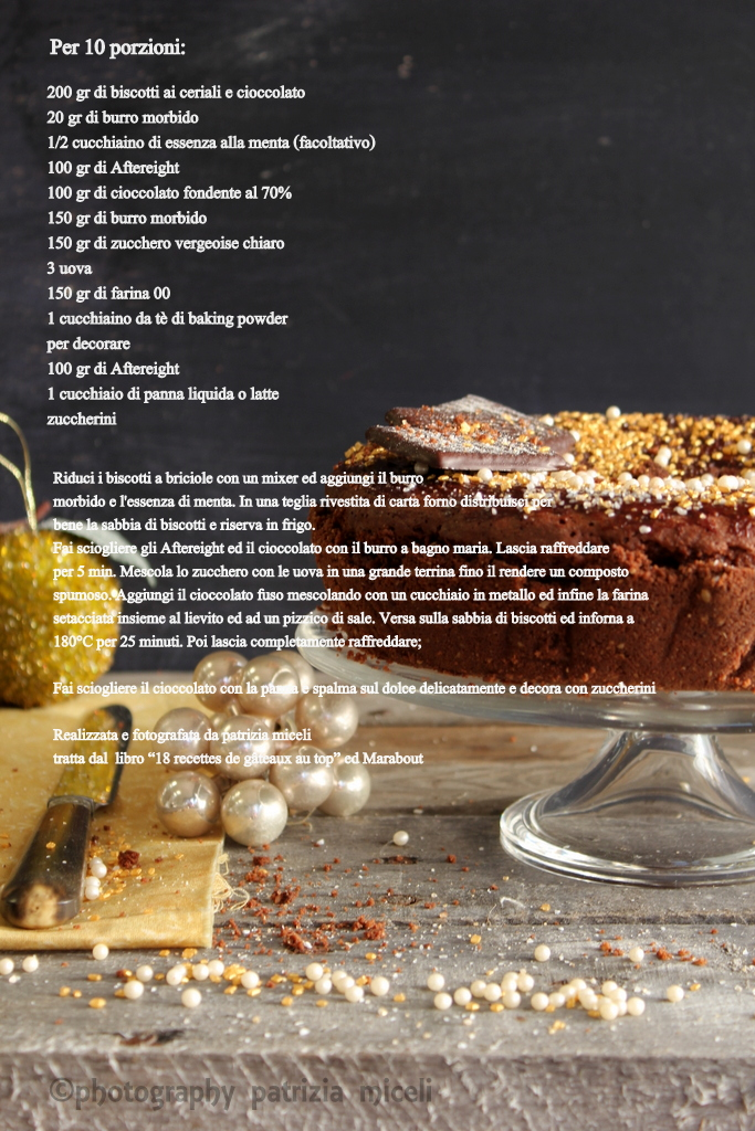 Ingredienti torta cioccomenta