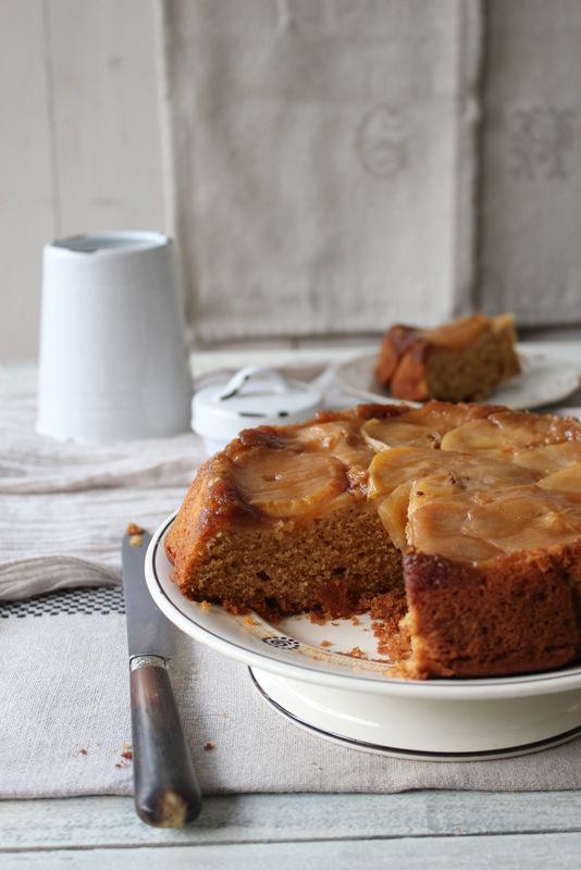 IMG_0405 torta capovolta di mele fetta