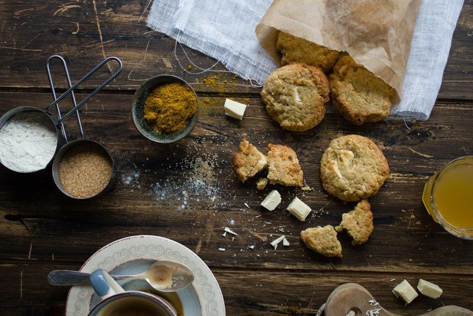 Cookies cioccolato bianco e curry 1