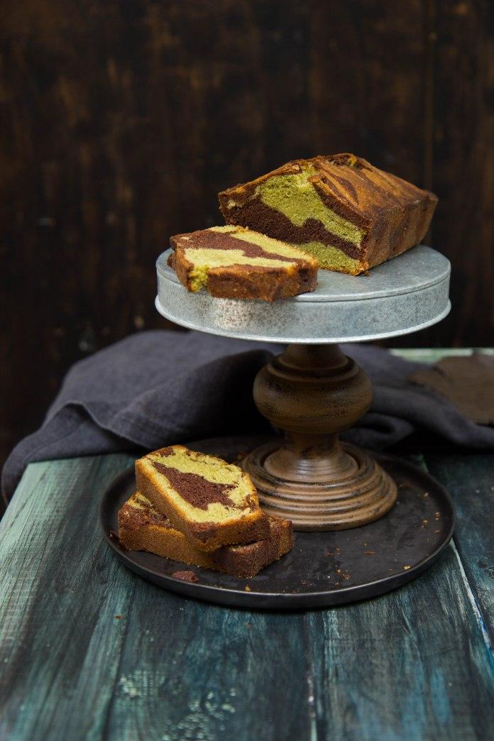chocolate-matcha-cake